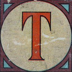 Vintage Brick Letter T   Flickr - Photo Sharing!