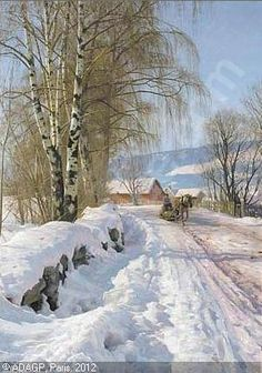 peder mork monsted paintings - Google Search