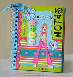 NOTAS... Mini Scrapbook Albums, Scrapbook Cards, Mini Albums, Scrapbooking, Easy Diy Crafts, Crafts For Kids, Altered Composition Notebooks, Diy Paper, Paper Crafts