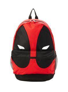 Deadpool mask design backpack with padded shoulder straps, fully padded back panel, side mesh pockets and web haul loop. 11 x 7 x Rucksack Bag, Backpack Purse, Purse Wallet, Messenger Bags, Deadpool Mask, Deadpool Stuff, Paddington Bear, Cool Backpacks, Guys And Girls