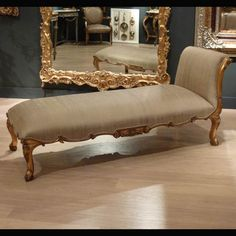 Gold Chaise Longue - Luxury seating