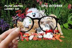 Plush Animal Lovers Day // October 28 // RB7132 Lovers Day, Plush Animals, Sleeve Tattoos, Crafts For Kids, Projects To Try, Childhood, Baby Shower, Crafty, Activities