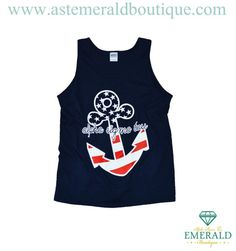 The Emerald Boutique Navy America Anchor Tank is #1 on our Spring Wish List! Grab yours today!
