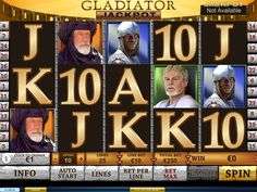 Gladiator Jackpot - http://freeslots77.com/gladiator-jackpot/ - Free Gladiator slot comes with added features than its predecessor, with a progressive jackpot. The game has been conceptualized by Playtech and runs on 5 reels and 25 paylines. All symbols in this slot machine game are theme related with the emperor symbol offering as much as 5000.00 coins....