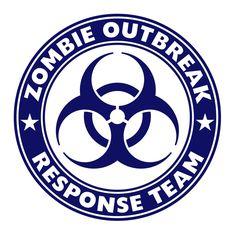 Zombie Outbreak Response Team Wall Decal: Amazon.co.uk: Kitchen & Home