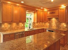 Kitchen Backsplash For Oak Cabinets tiled floors with light oak cabinets | solid oak cabinets with