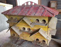 Antique folk art martin birdhouse.