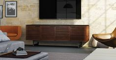 Mid-century modern design is reflected in the Corridor 8179 by BDI, shown here in Chocolate Stained Walnut.