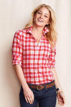 Women's Patterned Buttondown Shirt from Lands' End