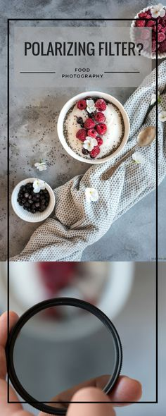 Polarizing Filter for Food Photography? | HealthyLaura Food Photography. Glare. Reflections. Cutlery. Polarizing Filter. Smoothie. Cocoa Nibs. Oranges. Nice Cream. Grey. Action. Breakfast. Table. Lighting. Setup. Gear. Light. #foodphotography #foodstyling #photographytips #tips #tutorial #lighting
