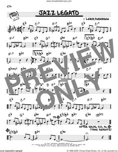 Anderson - Jazz Legato sheet music (real book - melody and chords) (real book) Virtual Sheet Music, Jazz Sheet Music, Digital Sheet Music, Blue Tango, Complete Music, Lead Sheet, The Voice, Books, Libros