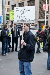 2011_Freedom_of_speech_sign_at_protest