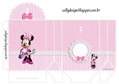 caixinha decorada minnie rosa
