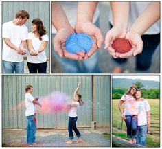 painted engagement photo idea