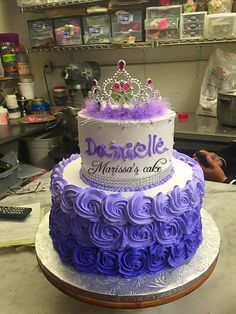 Made by me Princess Sofia the First birthday cake All buttercream