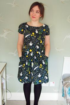 What a lovely dress stitched by @whatkatiedoes using Simplicity 1610 #simplicitybyme