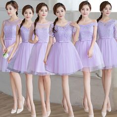 Find More   Information about Knee Length Corset Purple Cheap Bridesmaid Dresses Short Wedding Party Dress Lace Sleeves Champagne Pink Robe Soiree Mariage,High Quality  ,China   Suppliers, Cheap   from Princessally Dresses Store on Aliexpress.com Girls Formal Dresses, Sweet 16 Dresses, Elegant Dresses, Cute Dresses, Short Dresses, Flower Girl Dresses, Cheap Bridesmaid Dresses, Wedding Party Dresses, Prom Dresses