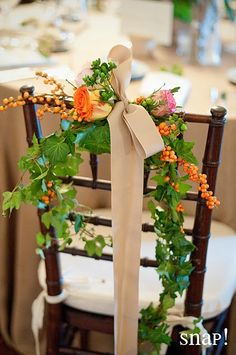 Beautiful chair decoration.