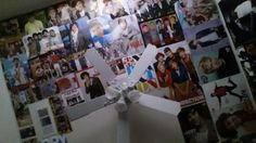 """Fan wall: """"my 1D posters on my ceiling!!!!! <3 ;)"""""""