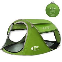 G4Free Pop Up Tent 3-4 Person Automatic and Instant Setup Sun Shelter Water Resistent Anti-UV Beach Cabana for Hiking Camping