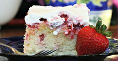 Strawberry Poke Cake Recipe | Tres leches cake, Cakes and Strawberries on Pinterest