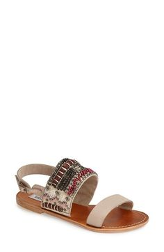 Steve Madden 'Golden' Beaded Leather Slingback Sandal (Women) | Nordstrom