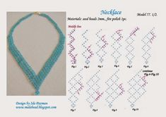 MalaBead: Model 77. first of 2 schema pix.   ~ Seed Bead Tutorials