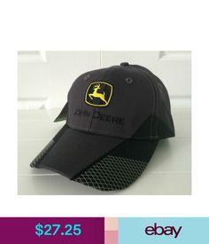 Hats John Deere Charcoal  amp  Black Hat   Cap W Cool Details On Bill  Vintage 8f55b747dfd9