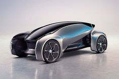 """Jaguar has imagined the world of the future with their new FUTURE-TYPE concept car, which is what they call an """"on-demand vehicle. Auto Design, Design Autos, Automotive Design, Design Cars, Future Concept Cars, Future Car, Future Vision, Coventry, Jaguar Type E"""