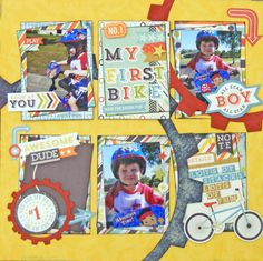 My First Bike Kit created by Teena Hopkins with Echo Park That's My Boy collection for My Scrappin' Shop.