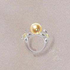 Butterfly pearl ring Mais