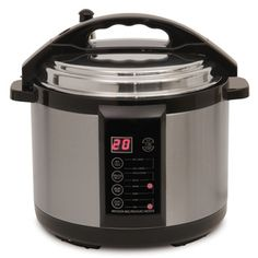7qt. Indoor PressureSmoker  - Pressure smoker cooks barbecue brisket in only one hour-five x faster than traditional methods. Combining a pressure cooker & smoker in one appliance. Cooks food up to 70% faster while causing wood chips to release their fragrant smoke.  An adjustable four-level rack holds up to 6 lbs. of food