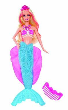 BARBIETM The Pearl PrincessTM LuminaR Mermaid Princess Doll Mattel Float A Handful Of Ice Cubes In Pool To Help Kids Stay Coo
