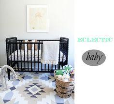 Eclecticismo en una habitación de bebé