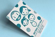 Letterpress-Babykarten gestaltet von Patricia Hünies.