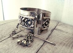 Antique cuff bracelet, Afghan bracelet, Afghan jewelry, wrist cuff,  tribal…