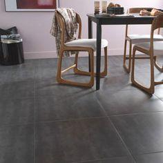 Carrelage sol gris Anthracite Ciment 60,4 x 60,4 cm
