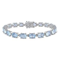 Amour 19 CT TGW Blue Topaz - Sky Bracelet Silver Length (inches): 7.25 (835 DKK) ❤ liked on Polyvore featuring jewelry, bracelets, braceletes, no color, blue topaz jewelry, silver jewelry, silver bangles, amour jewelry and silver jewellery