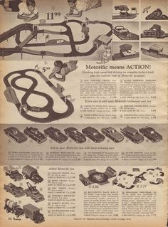 Amt Corporation S Amt Model Racing Set 1962 I Purchased One Of These Sets At A Toy Auction In