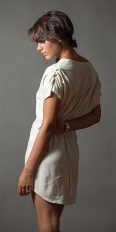 Pin-Tuck Tunic Available in Cream, Heather Grey, Charcoal... Make, buy, sell - custom fit fashion - Stanfordrow.com