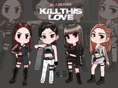Kill this Love one of the most popular famous song by girl group BLACKPINK and E. Blackpink Poster, Blackpink Memes, Black Pink Kpop, We Are The World, Blackpink Photos, Fan Art, Blackpink Fashion, Kpop Fanart, Blackpink Jisoo