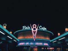 Flo's V8 cafe✨#disneycaliforniaadventure