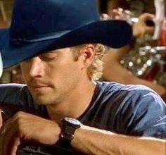 Paul Walker...I AM A SUCKER for a cowboy hat on sexy male.