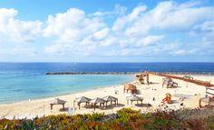 Tel Aviv, Israel - Public Spaces, beach at the Mediterranean Sea (ים התיכון)