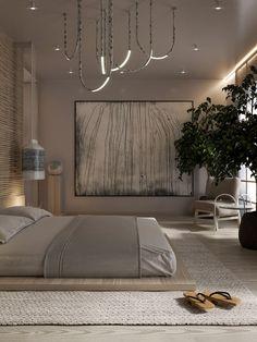 Wabi sabi on Behance Modern Japanese Interior, Japanese Interior Design, Home Interior Design, Japanese Aesthetic, Interior Livingroom, Minimalist Interior, Minimalist Home, Modern Minimalist Bedroom, Minimalist Apartment