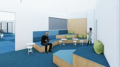 bleuelink - concept interieor design - chill out at the entrace area