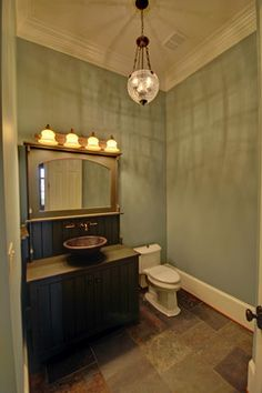 I love this vanity. Not only because it's green either.