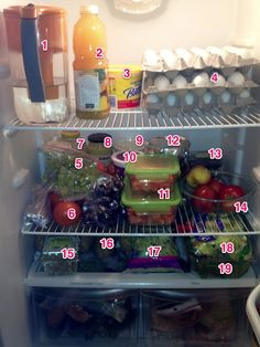 Clean Eating Fridge... I wish my fridge looked like this all the time. I'd definatly eat clean 100%