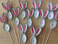 Kids Crafts, Bunny Crafts, Toddler Crafts, Easter Crafts, Diy And Crafts, Arts And Crafts, Easter Art, Easter Bunny, Pom Pom Crafts