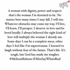 A woman with dignity